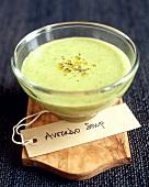 Avocado Soup in Glass Bowl