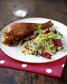 Turkey leg with Lime and Chilli Salad