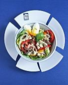 French-Greek-Foodmix: Salade Nicoise mit griechischem Feta