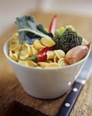 Ingredients: orecchiette, broccoli, garlic & chili pepper