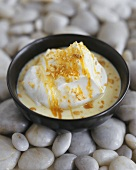 Poached meringues with custard (Ile flottante or Floating island)