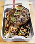 Leg of lamb with herb crust