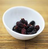 Loganberries in a bowl