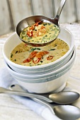 Spicy coconut soup with shrimps and coriander (Australia)