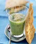Cucumber gazpacho with feta