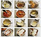 Making lasagne