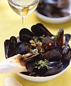 Cozze al vino bianco (mussels in white wine)