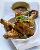Chicken wings with Asian chili sauce
