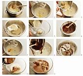 Making marbled mousse au chocolat