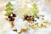 Vanilla cookies, coconut macaroons, almond clusters, choc balls