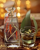 Chili vodka tonic and coriander paste as gifts