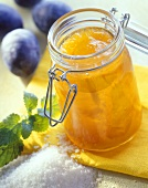 Apricot jam with plum schnapps