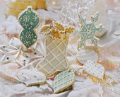 Various Christmassy sweet pastry biscuits