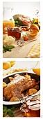 Gänsebraten mit Orangensauce zubereiten