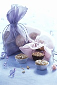 Mini-muffins with almonds, individually & in gift bags
