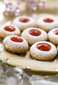 Christmas biscuits with jam filling