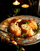 Stuffed salmon rolls