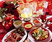 Christmas fondue for the whole family
