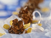 Schokoknusperchen (Cornflake-Trockenfrucht-Schokokonfekt)