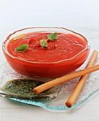Vellutata di pomodori (Cold tomato soup, Italy)