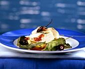 Petto di pollo farcito (Stuffed poulard breast, Italy)