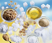 Sweeteners: candy sugar, icing sugar, sugar, honey
