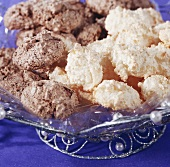 Coconut macaroons and nut macaroons