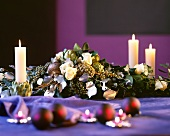 Festive flower arrangement as table or buffet decoration
