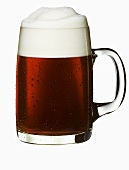 Strong beer in glass tankard