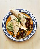 Enchiladas with vegetable filling