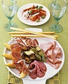 Antipasto misto (platter of assorted appetisers, Italy)