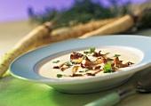 Hamburg parsley soup with chanterelles
