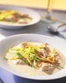 Creamy turkey soup with red lentils