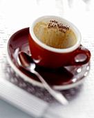 Empty espresso cup (Caffe Bei & Nannini, Italy)