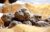 White truffle in a paper bag from Piedmont