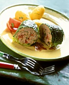 Stuffed savoy roulade