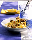Pasta alle vongole (Ribbon pasta with clams, Italy)