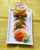 Insalata caprese (tomatoes and mozzarella, Italy)