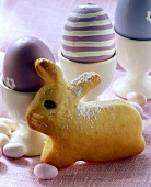Easter bunny in quark yeast dough