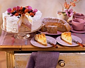Berry cheesecake; apple cheesecake & coffee cheesecake