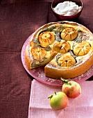 Apple quark cake with poppy seeds