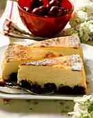 Cherry quark cake from Switzerland