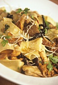 Pappardelle with forest mushrooms, parsley and Parmesan