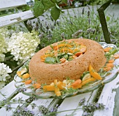 Warm savarin with vegetables (France)