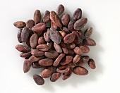 Cocoa beans in a heap