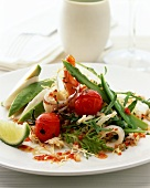 Seafood salad with vegetables
