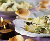 Risotto allo champagne (Champagne risotto with green asparagus)