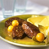 Venison medallions with physalis sauce