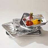 A few aluminium barbecue dishes