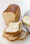 White bread spread with butter